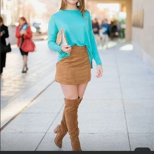 Zara lightweigh knitted sweater turquoise color